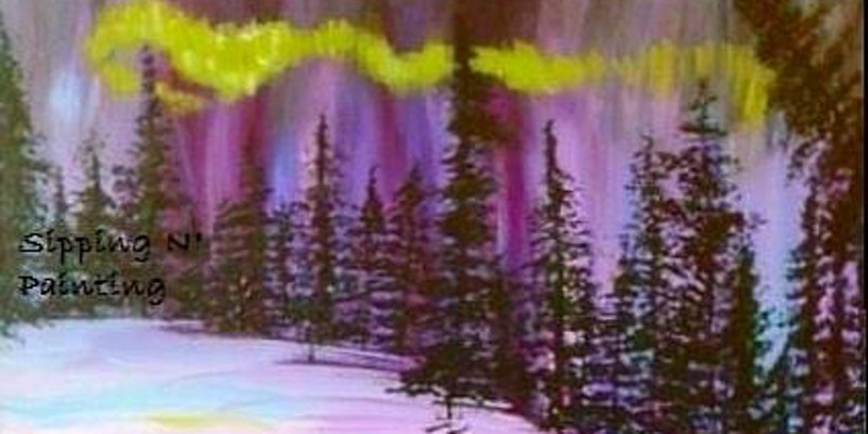 Paint Wine Denver Northern Lights Tree Mon Nov 20th 6:30pm $30