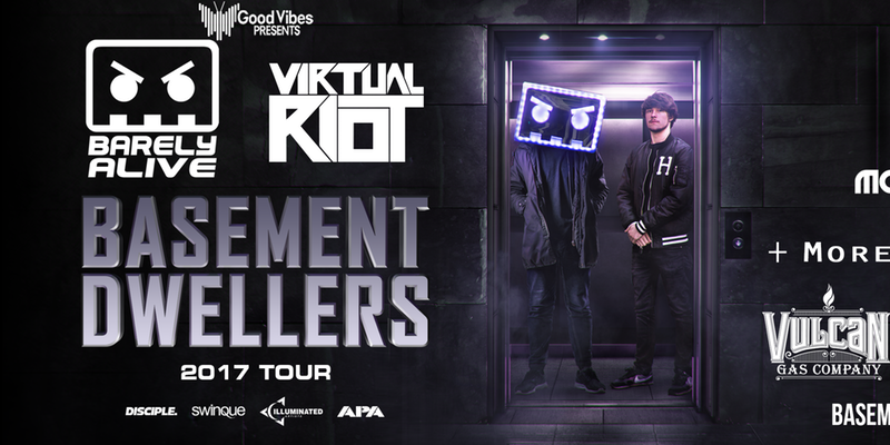Basement Dwellers tour FT. Barely Alive, Virtual Riot, and more!