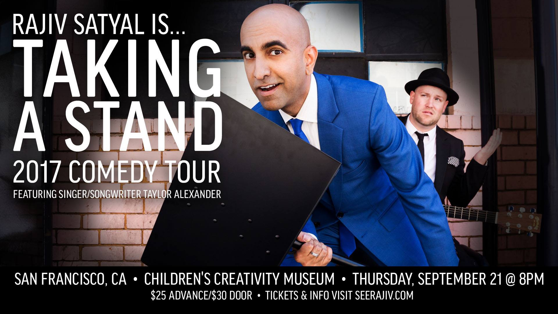 Rajiv Satyal's Taking a Stand Comedy Tour - San Francisco