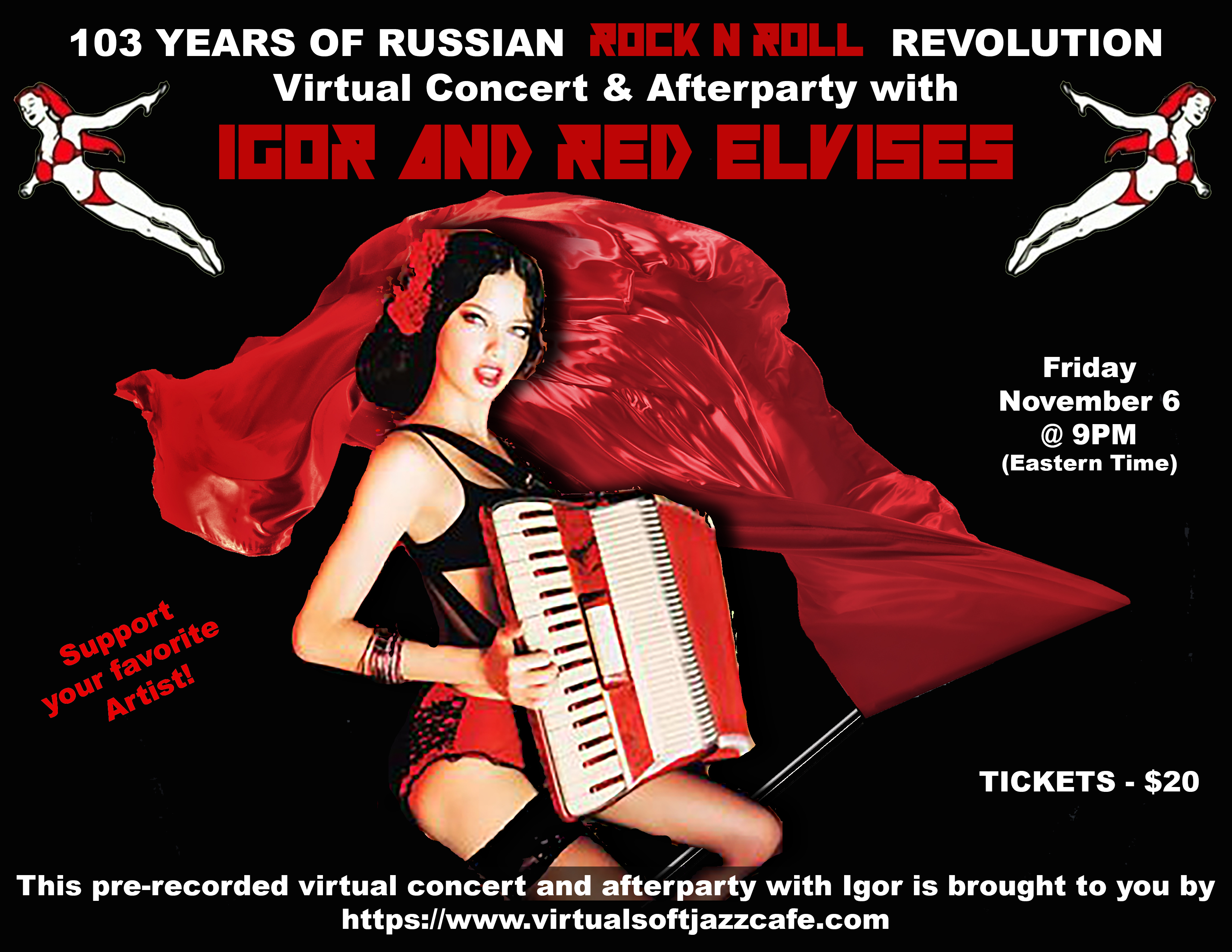 IGOR & RED ELVISES - Virtual Concert & Afterparty