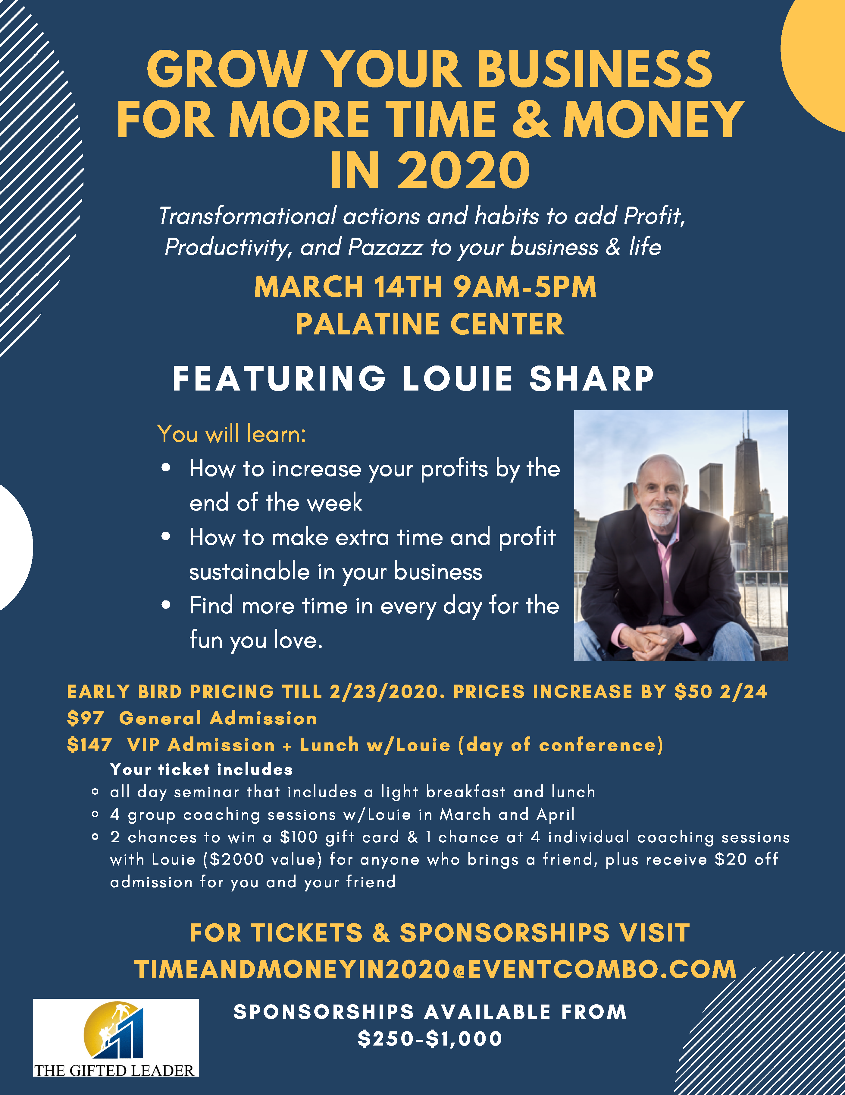 Grow your Business for more Time and Money in 2020 with Louie Sharp!