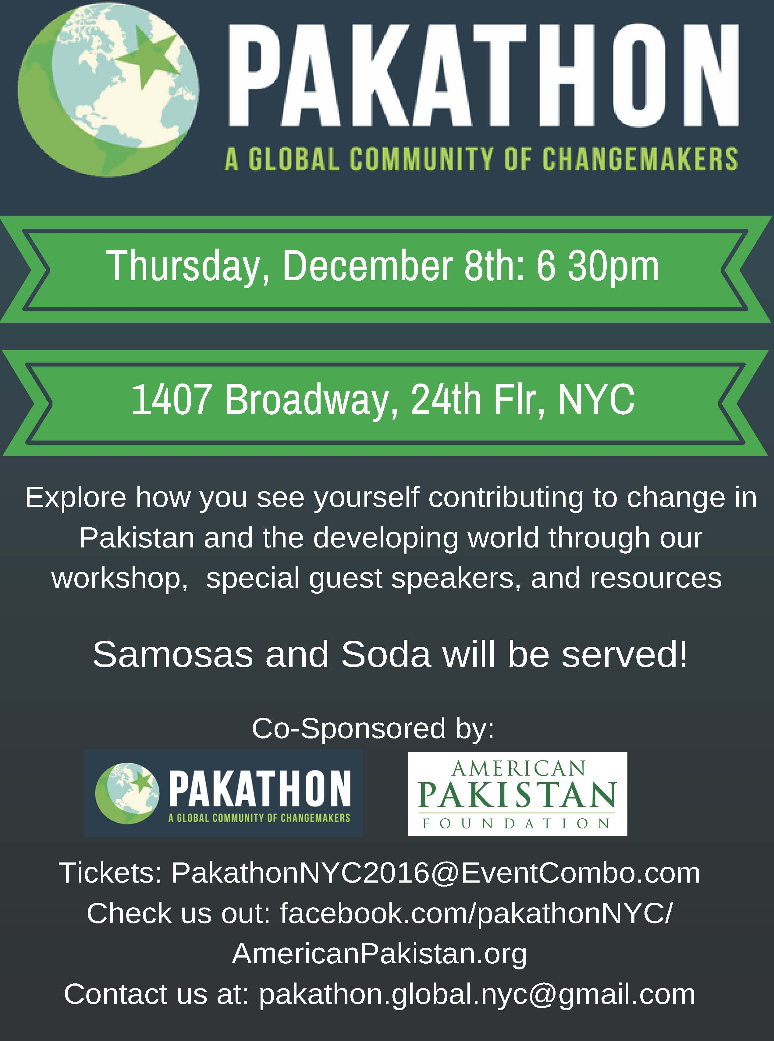 Pakathon in NYC: Creating a Community of Change-Makers. Come, Network, Exchange Ideas, Grow