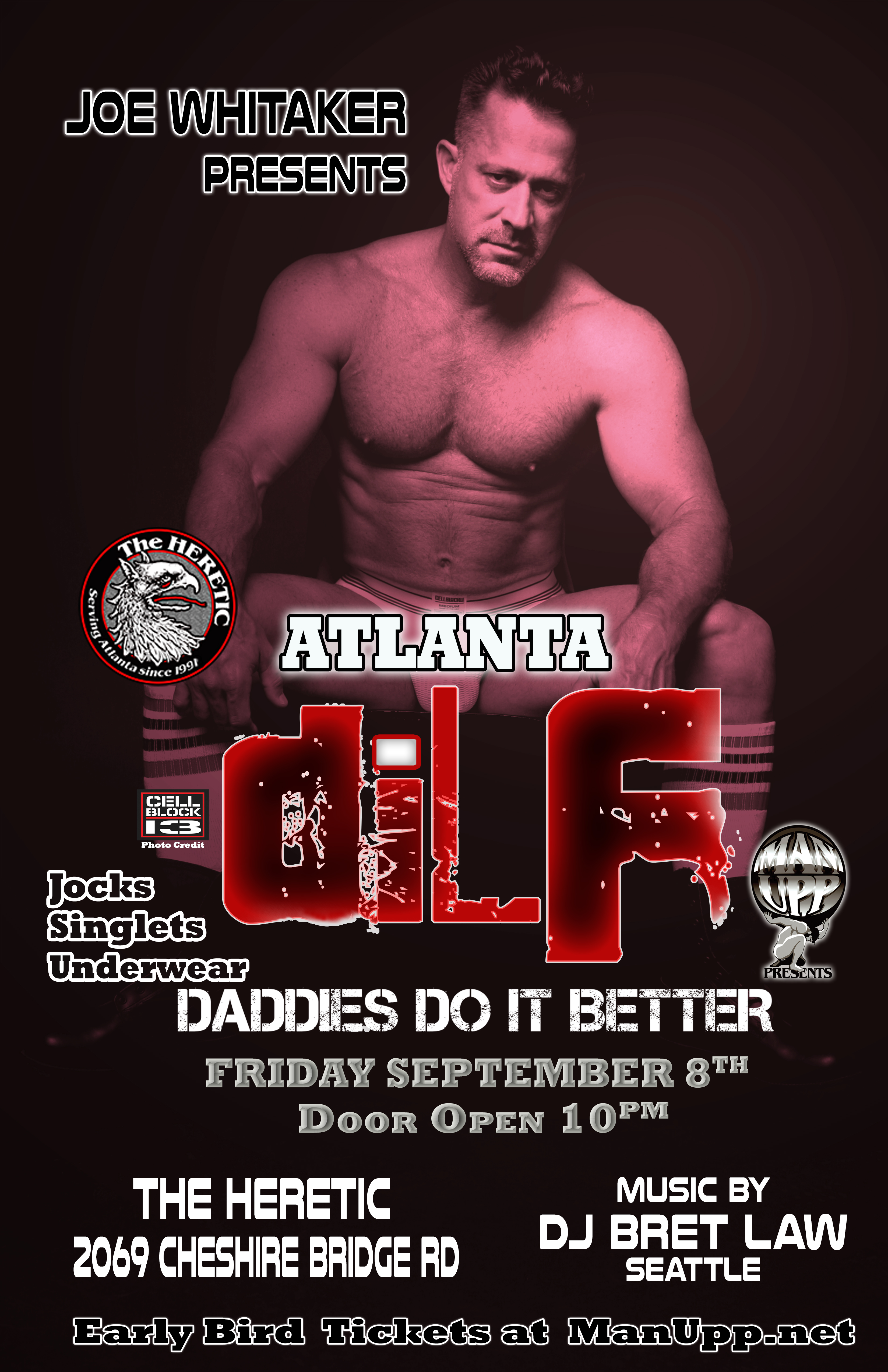DILF Atlanta Men's Jock/Underwear Party by MAN UPP & Joe Whitaker