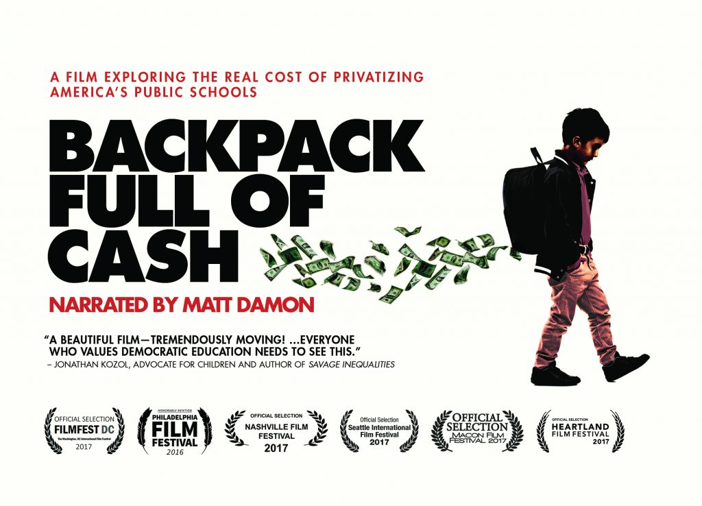 "Screening of ""Backpack Full of Cash"""