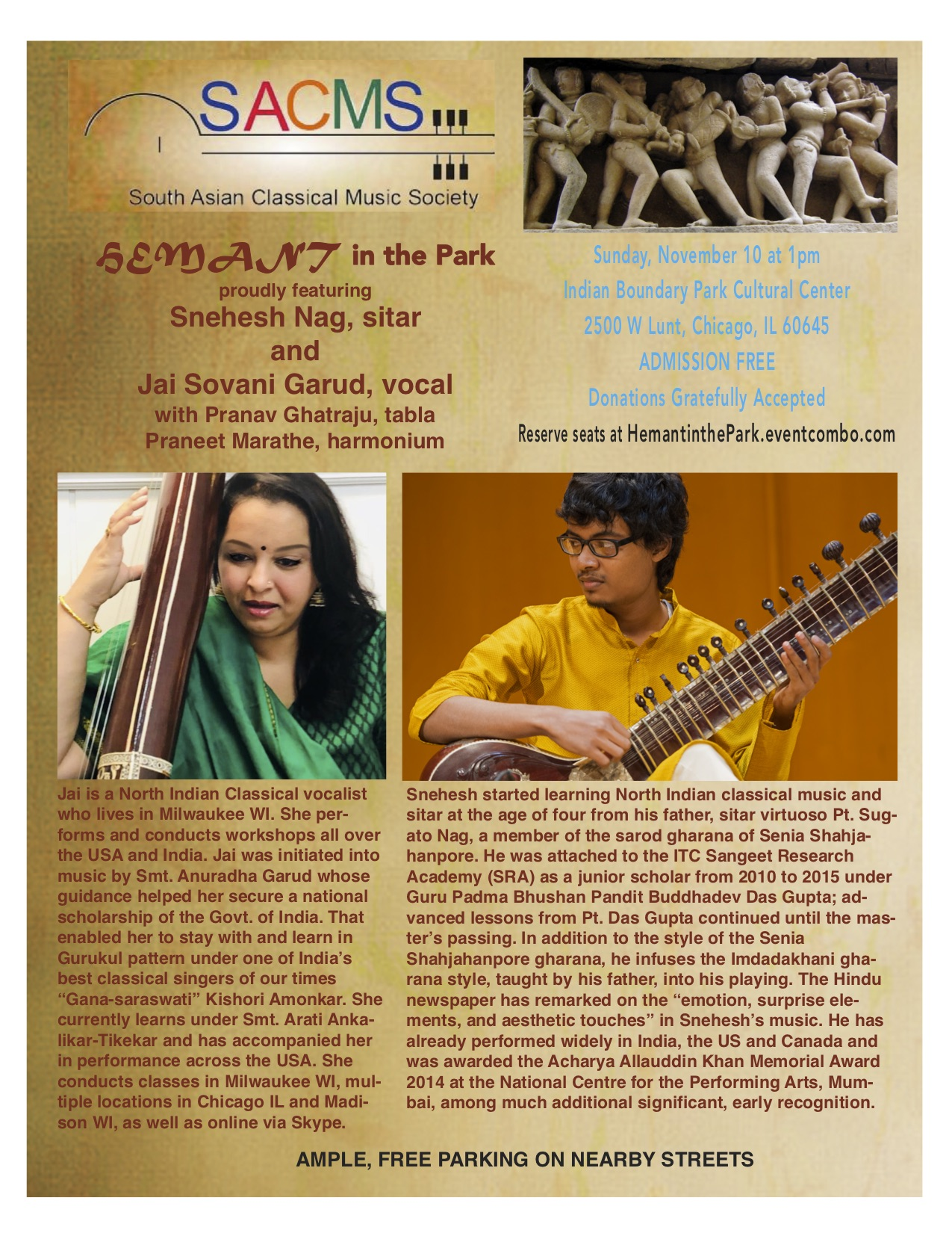 Sitar and Vocal Hindustani Recital