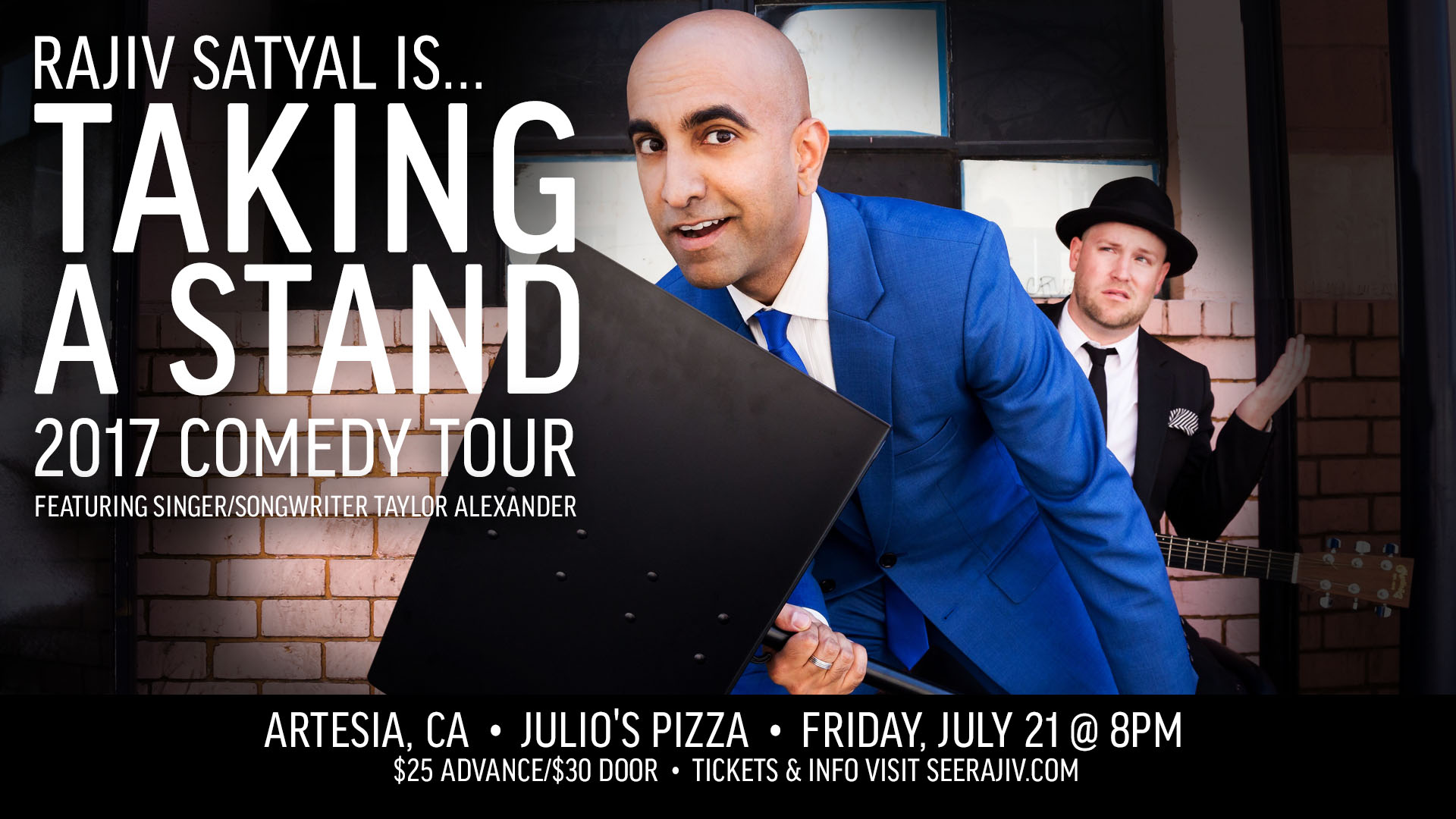Rajiv Satyal's Taking a Stand Comedy Tour - Artesia