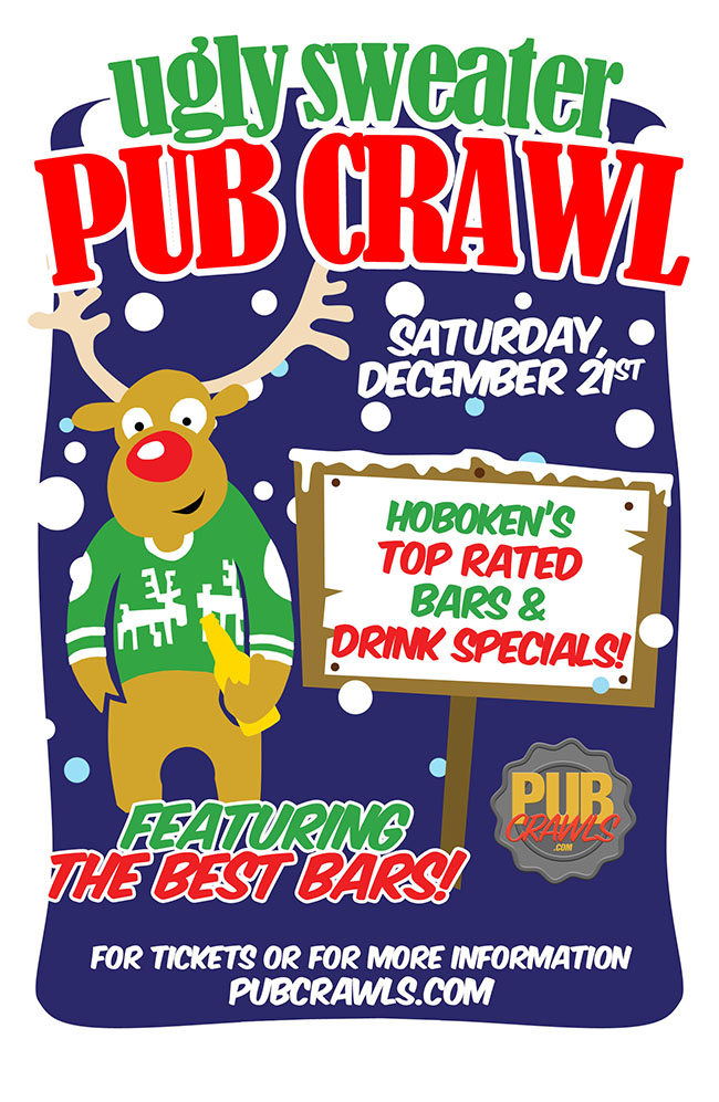 7th Annual Ugly Sweater Pub Crawl Hoboken