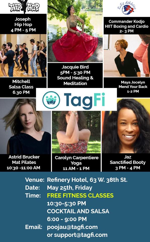 TAGFI - Free Fitness Classes and Mixer!