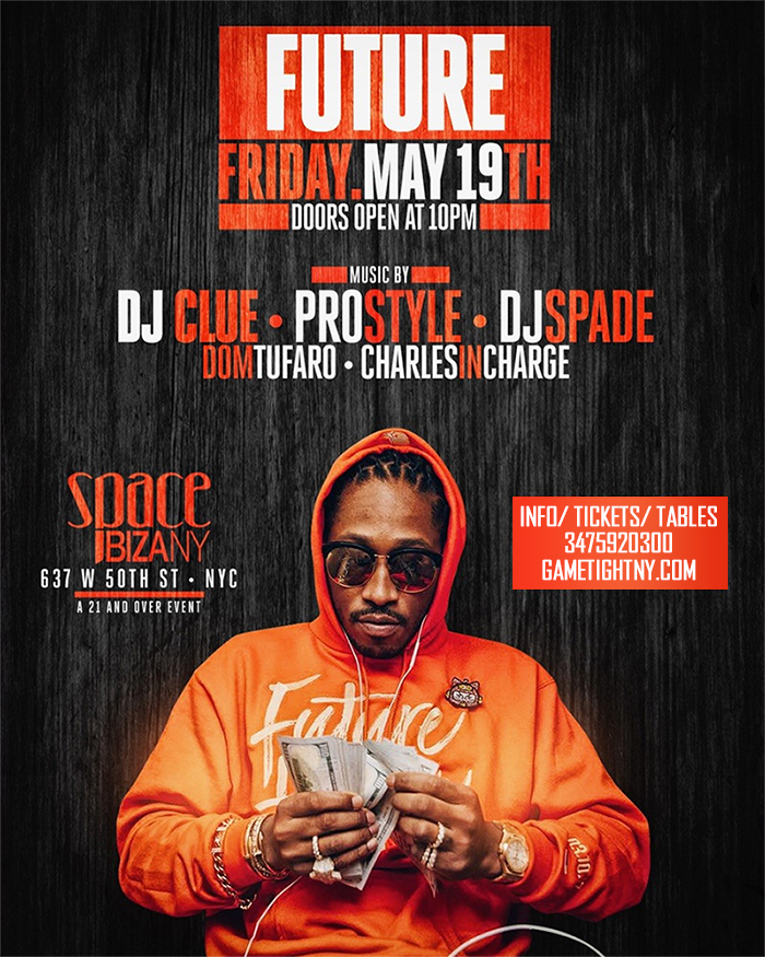 Future live at Space Ibiza NYC with Dj Prostyle Dj Clue 2017