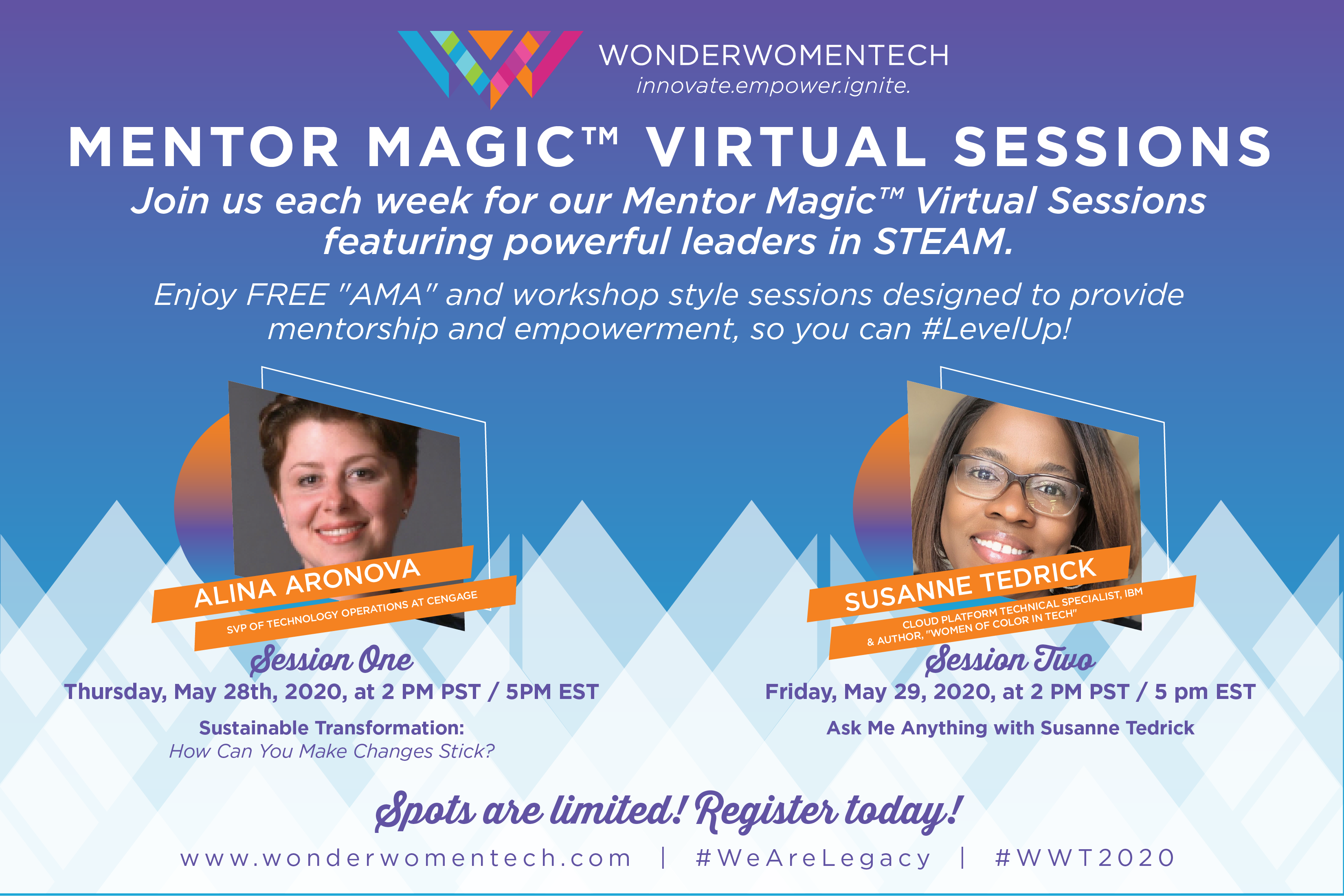 Wonder Women Tech Mentor Magic Sessions May 28th - 29th