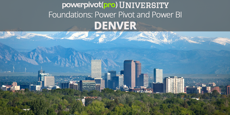 Foundations: Power Pivot and Power BI with Rob Collie - Denver
