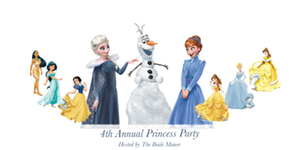 4th Annual Disney Princess Party 11:00-1:00pm