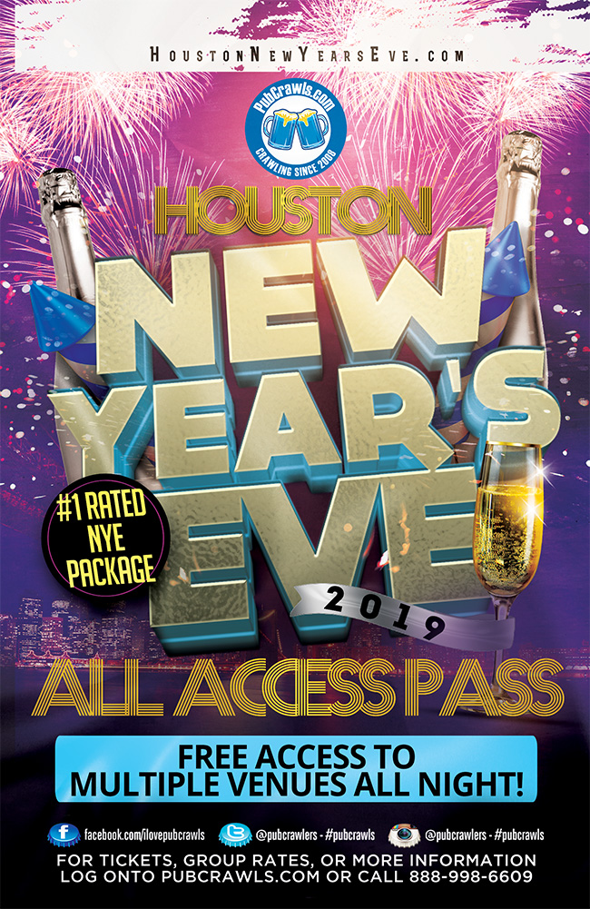 Houston All Access Pub Crawl Pass New Year's Eve 2019