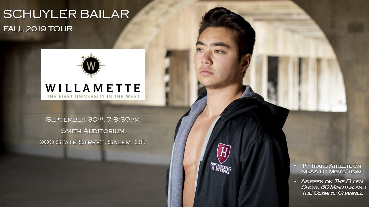 Schuyler Bailar Speaks at Willamette