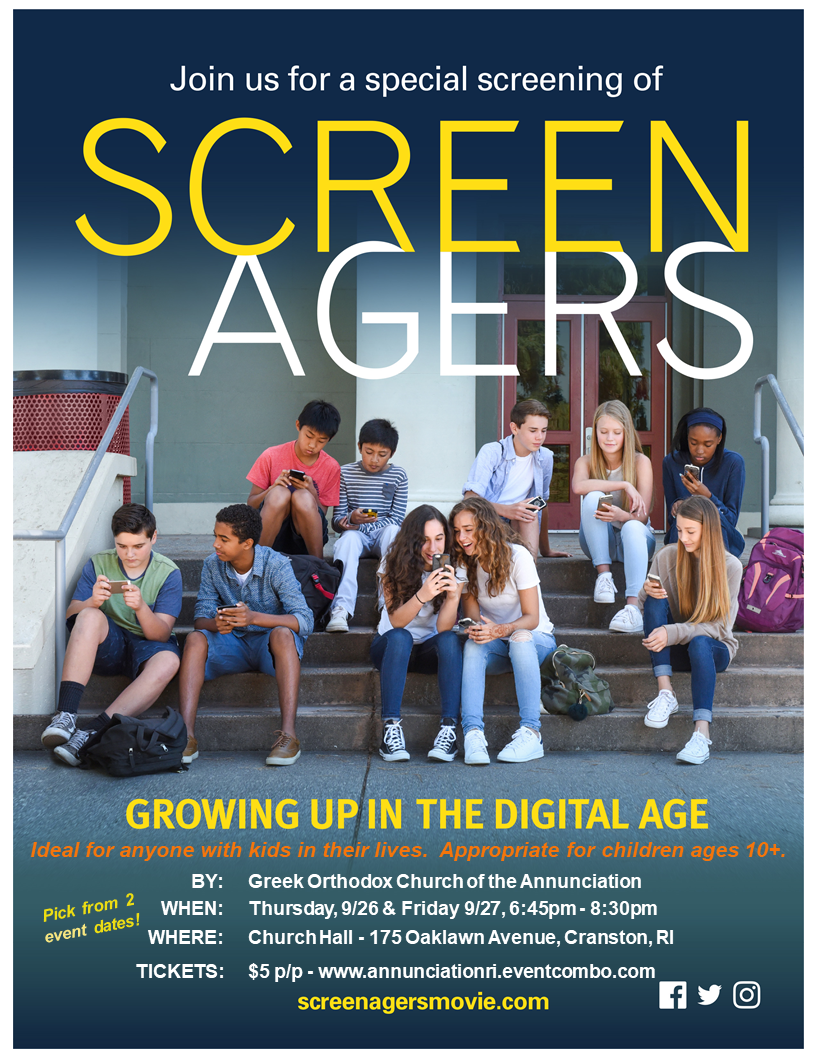 Screenagers Film Presented By Church of the Annunciation