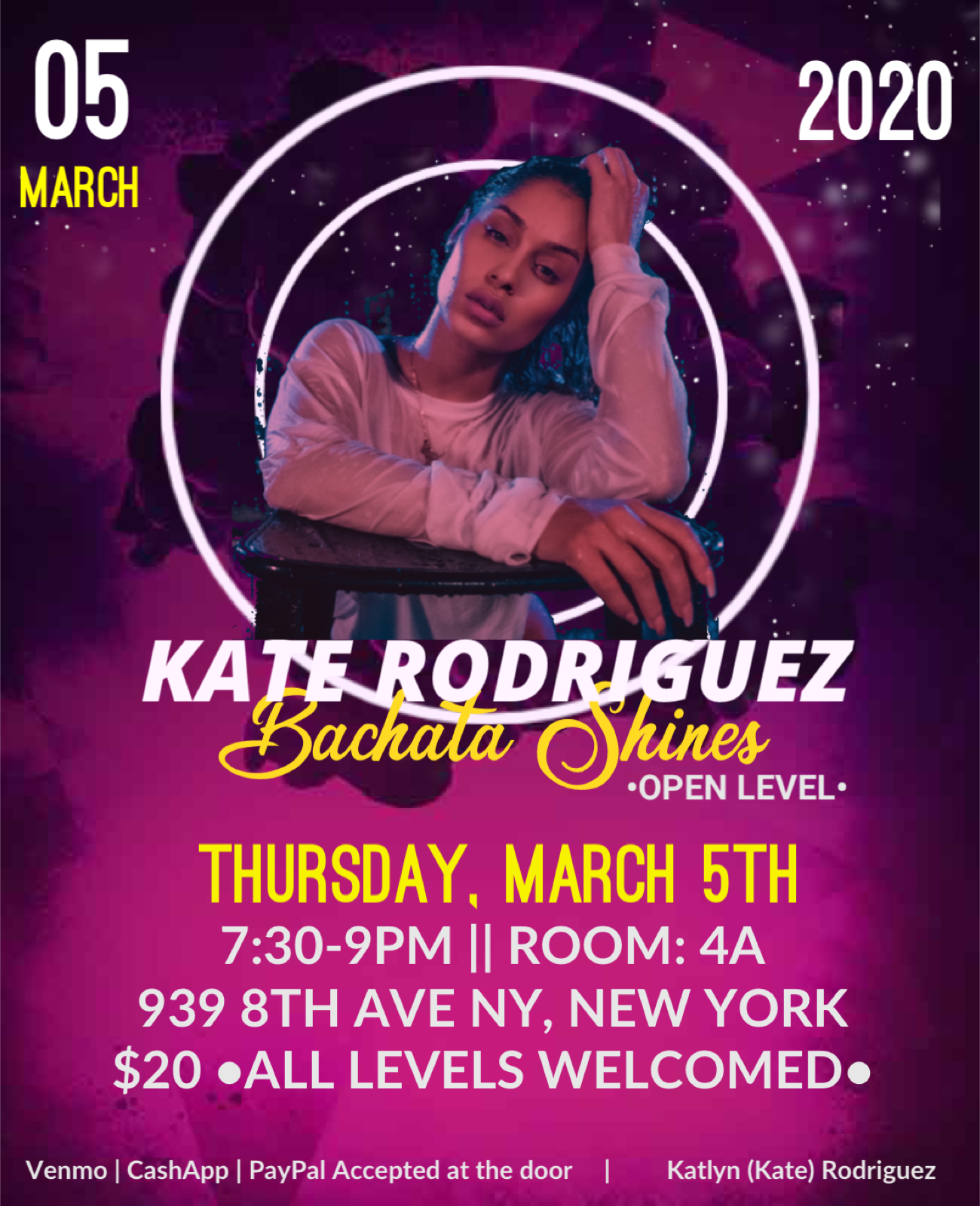 KATE RODRIGUEZ BACHATA SHINES WORKSHOP