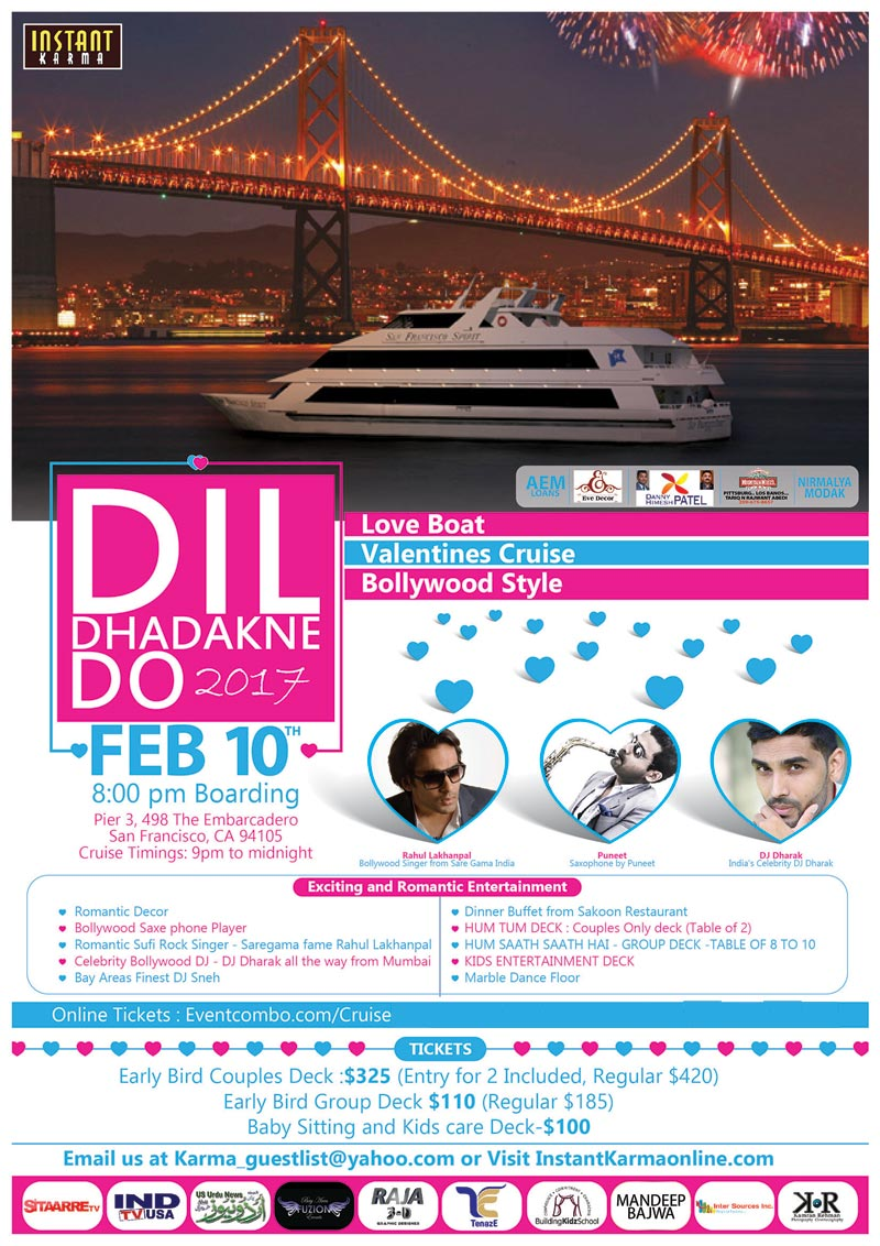 Love Boat, Valentine's Cruise Bollywood Style: DIL DHADAKNE DO 2017