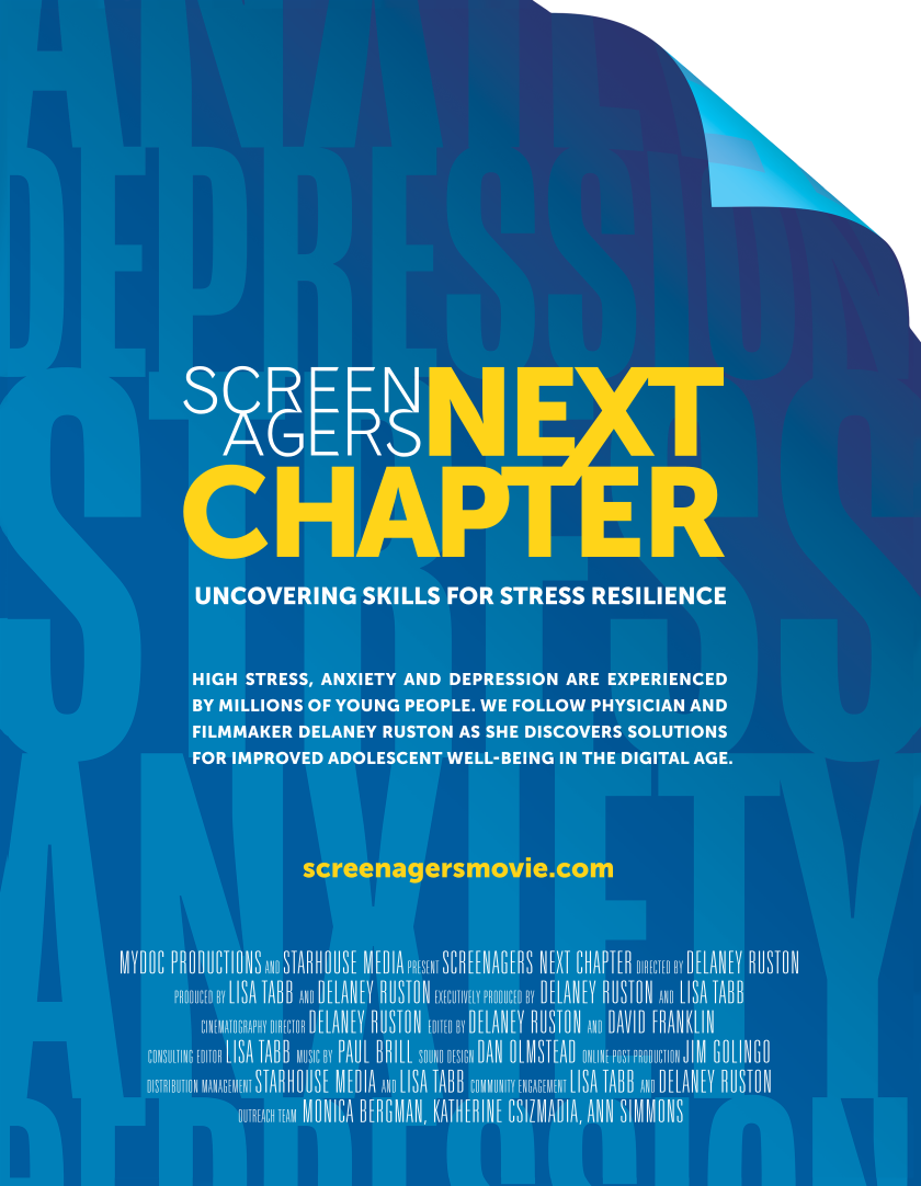 Screenagers NEXT CHAPTER presented by Mark Day School and featuring Q&A with producer Lisa Tabb