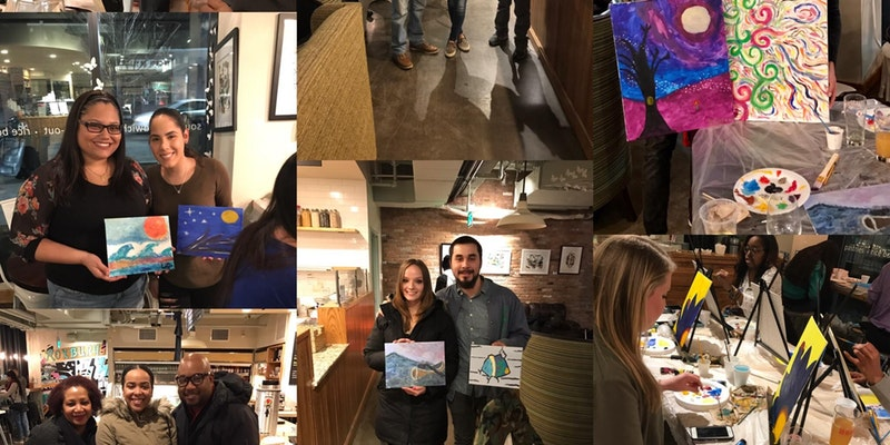 Paint & Sip at Dudley Café (Complimentary Glass of Wine with ticket)