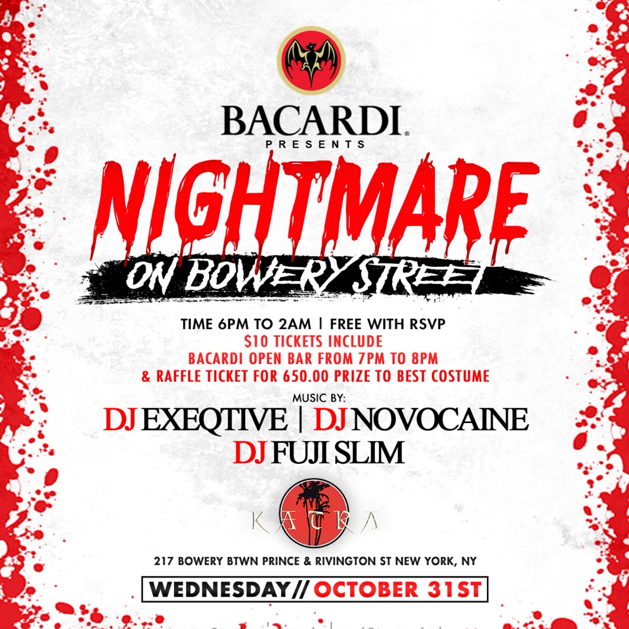 Bacardi Presents Nightmare On Bowery St