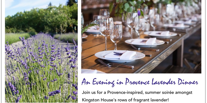 Provence-inspired Summer Soirée amongst Kingston House's Lavender's fields