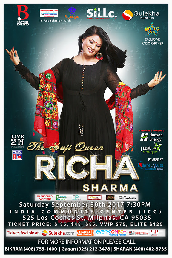 The Sufi Queen Richa Sharma Live in Bay Area