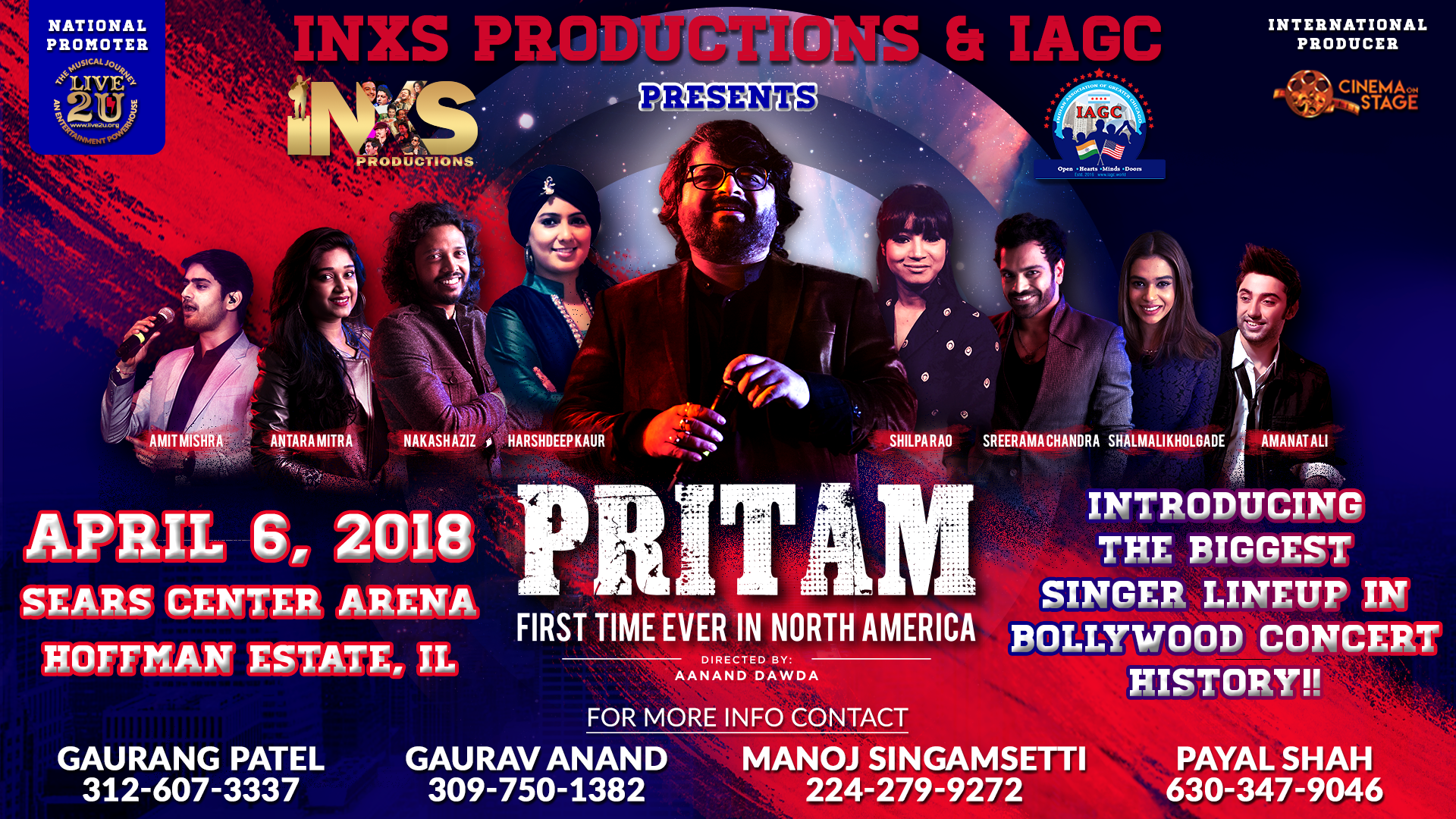 Pritam Live - First time ever in Chicago