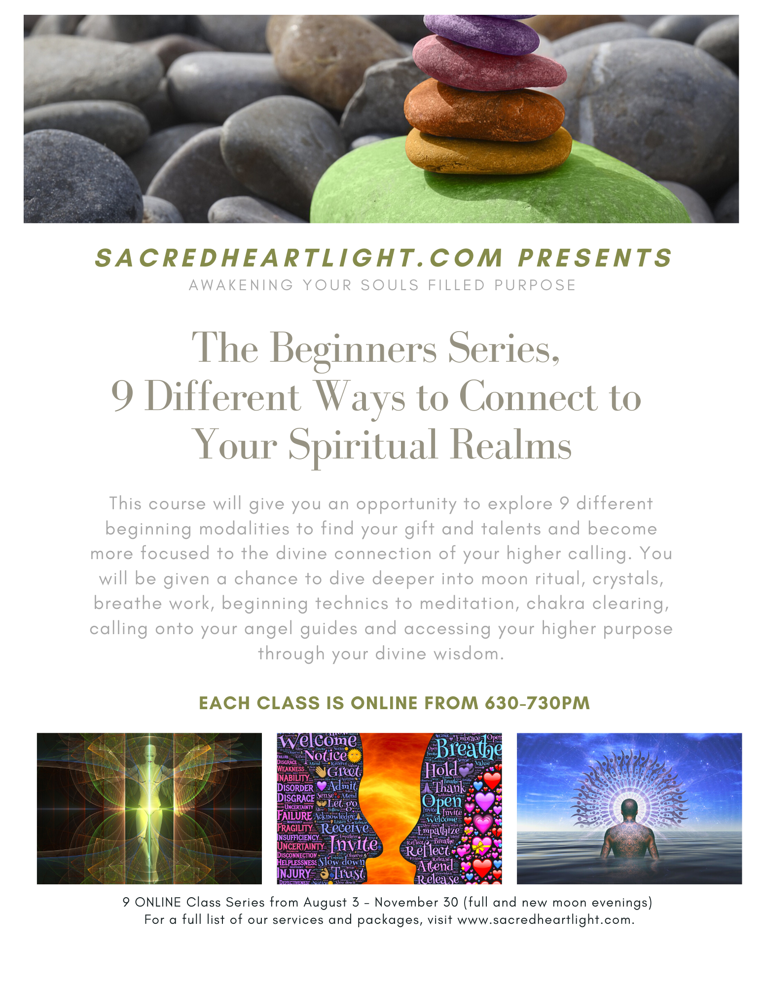How to align and clear your CHAKRA system?  The Beginners Series - 9 Different Ways to Connect to Your Spiritual Realms   Class #8 of 9,