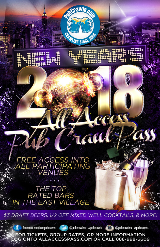 New York City All Access Party Pass New Year's Eve