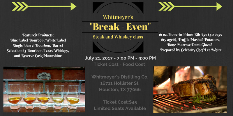 """Break-Even"" Steak and Whiskey Class"