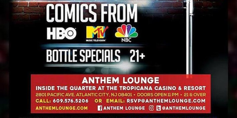 BUDA & BRIDGESTONE-COMEDY Every Wed and Fri:Tropicana Casino Athem Lounge
