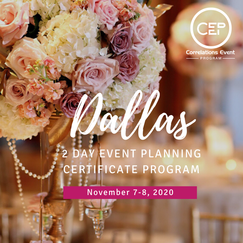 2 Day Dallas Event Planning Certificate Program