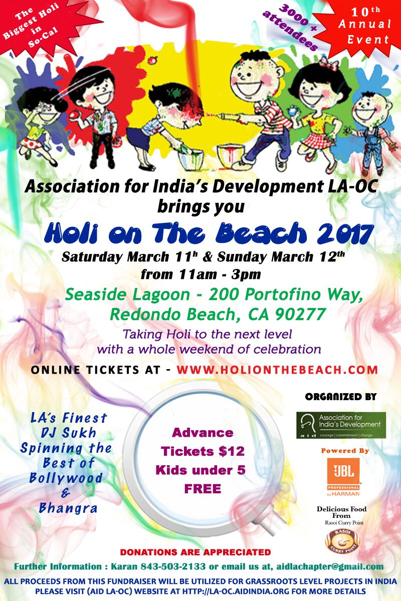 Holi on the Beach 2017 - Saturday, March 11