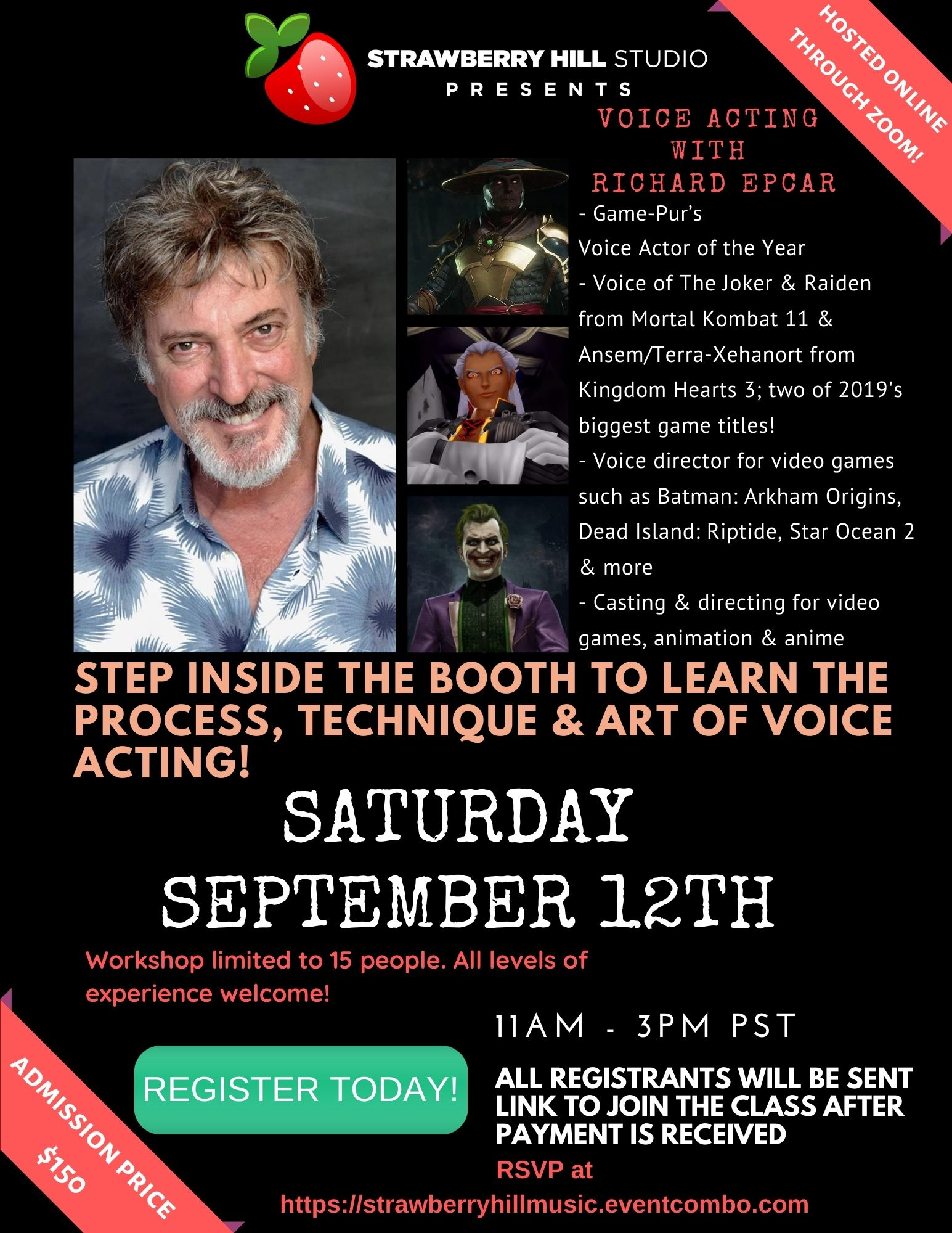 Voice Acting Workshop w/ Richard Epcar