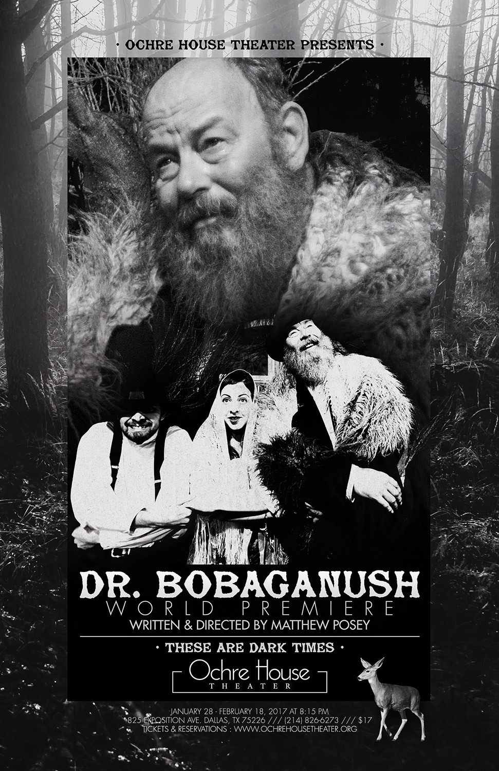 Ochre House Theater Presents DR. BOBAGANUSH, written and directed by Matthew Posey