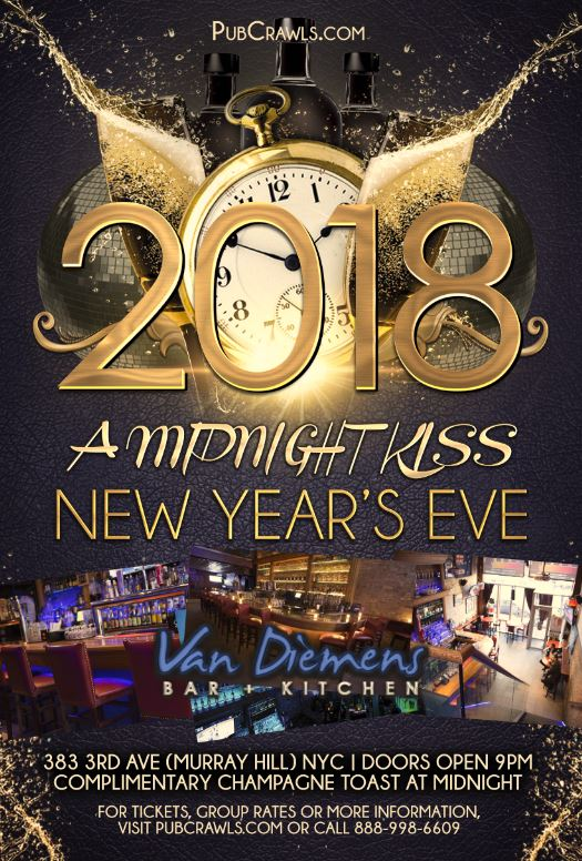 "Van Diemens New Years Eve ""A Midnight Kiss"""