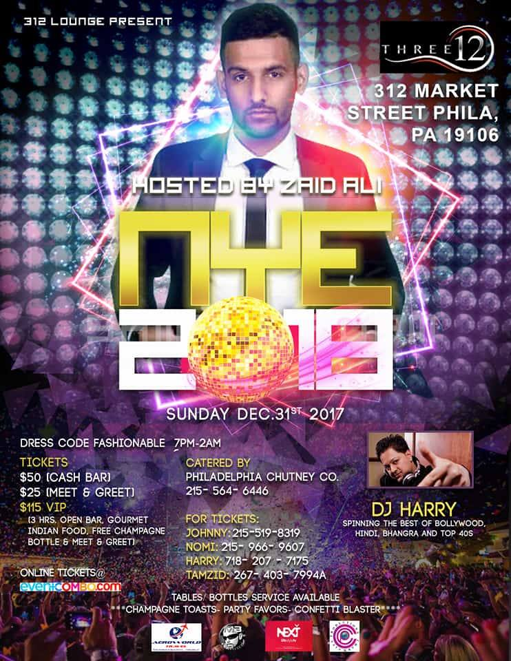 New Year's Eve 2018 in Philadelphia - Bring in the New Year with Zaid Ali in Philly