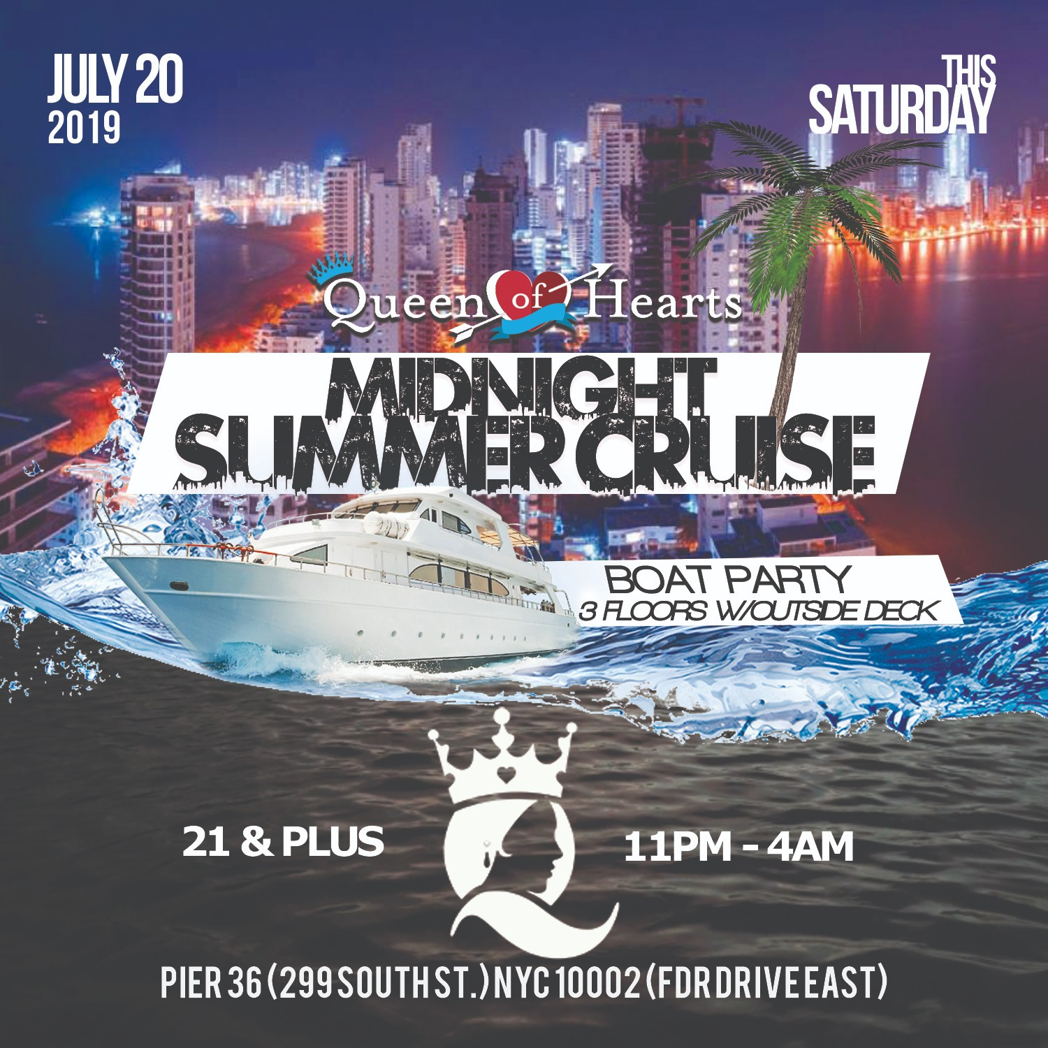 A Midnight Summer Cruise Colombian Independence Party
