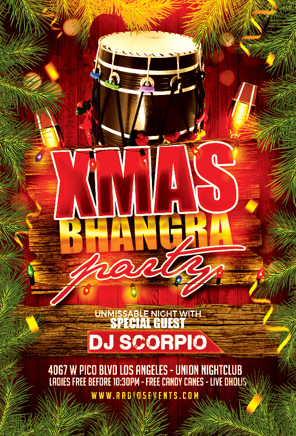 Radio5 Events presents...Xmas Bhangra! LA's LAST Bhangra Party for 2017 w/ DJ Scorpio! Live Dhol players, Xmas theme decor & more surprises. You DON'T wanna miss out!