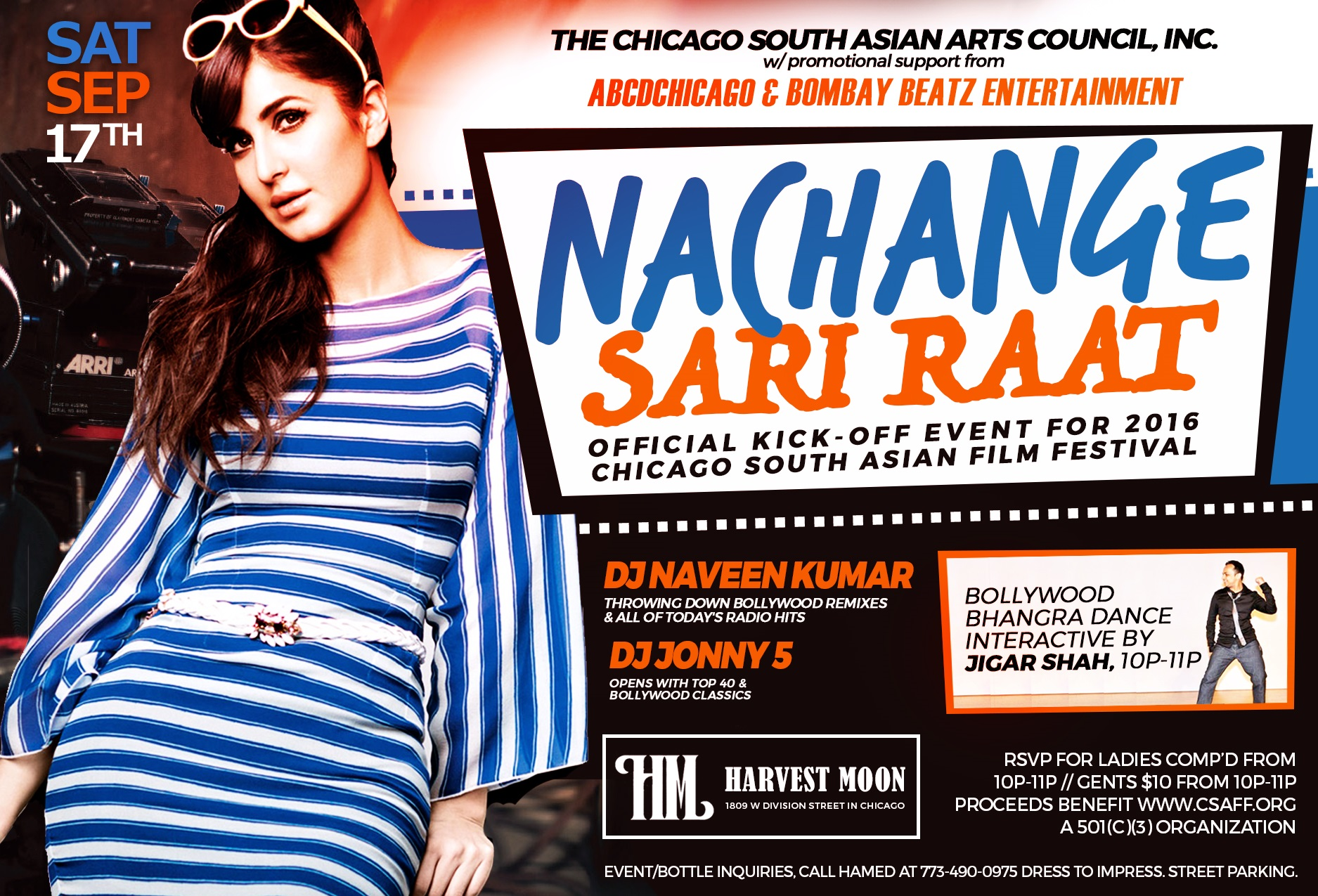Nachange Sari Raat - 2016 CSAFF.org kick-off party!