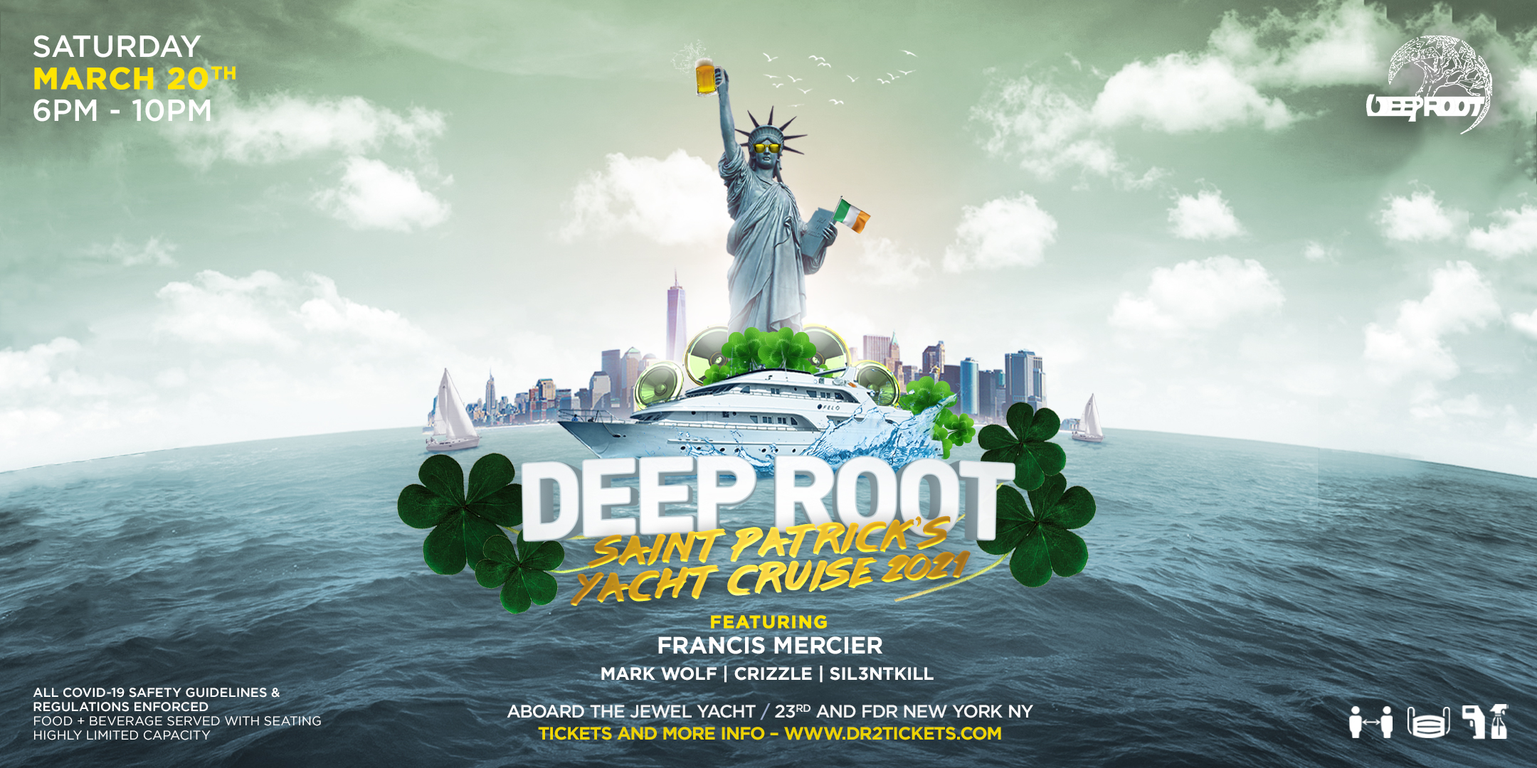 Saint Patrick's Weekend Jewel Yacht Cruise | Spring Grand Opening