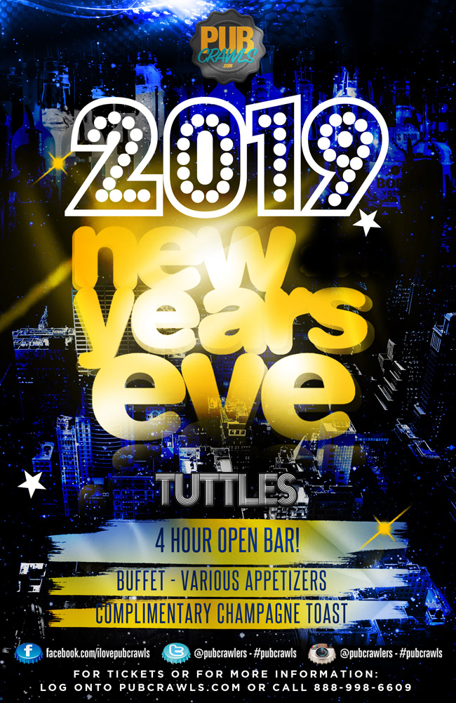 NYE CELEBRATION 2019 TUTTLES NEW YORK CITY