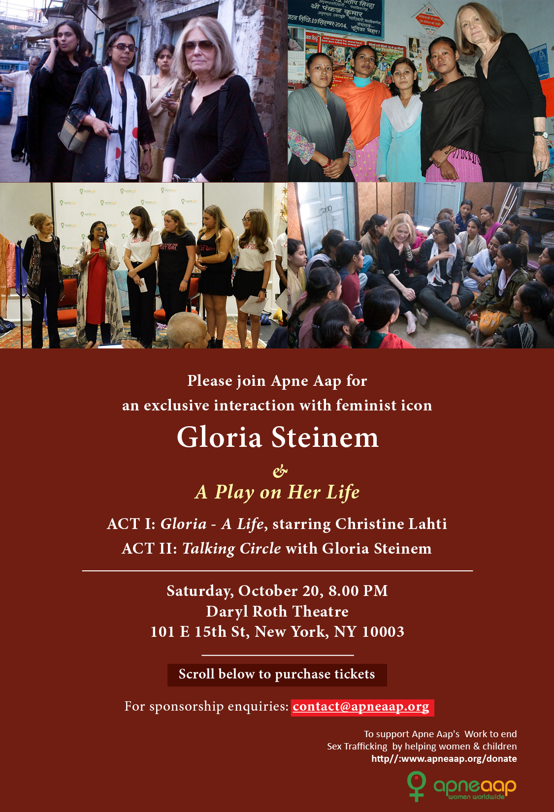 Interaction with Gloria Steinem & a Play on Her Life