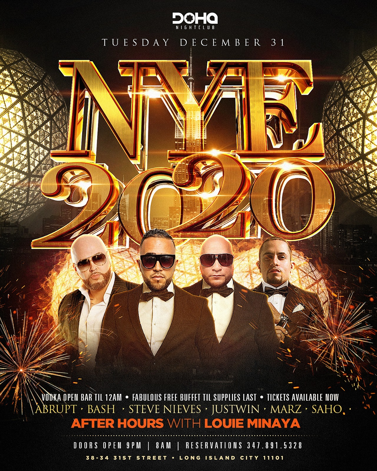 New Years Eve at Doha Nightclub NYC