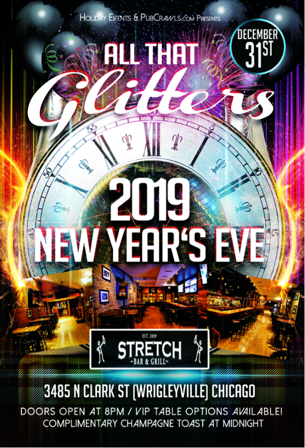 """All That Glitters"" New Year's Eve at The Stretch/Elf'd Up"
