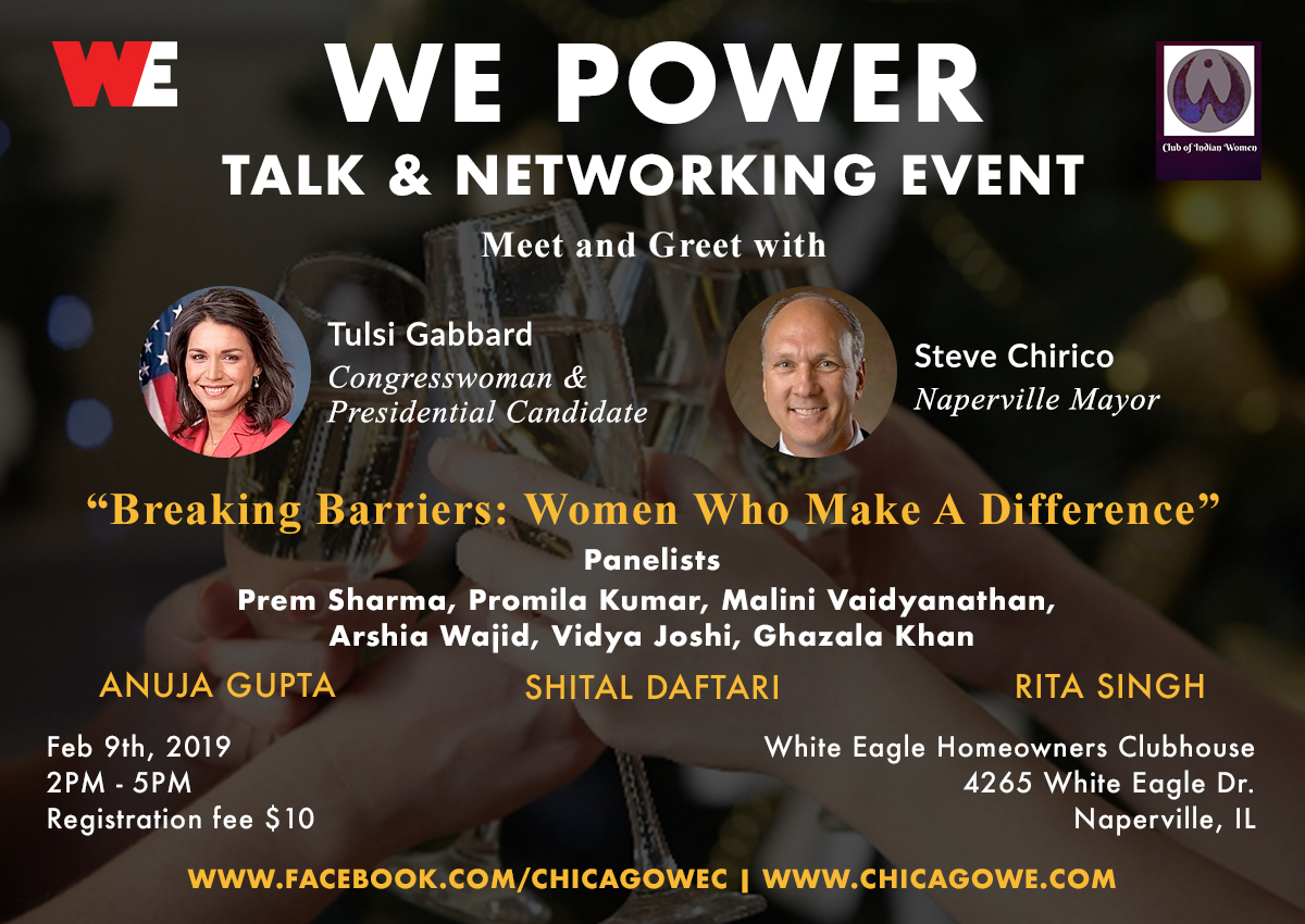 WE Power Talk and Cocktails Networking Event