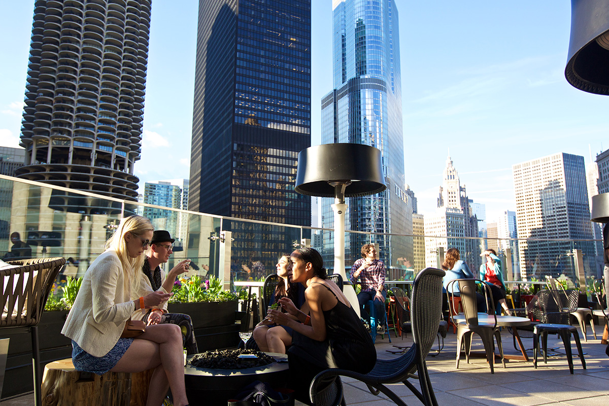 RAISED Urban Rooftop Bar Chicago
