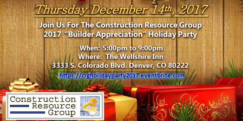 Construction Resource Group Holiday Party