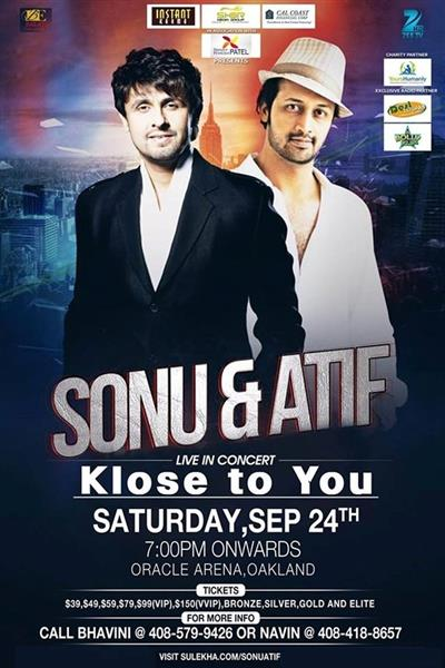 Sonu Nigam and Atif Aslam Live in Concert - Bay Area